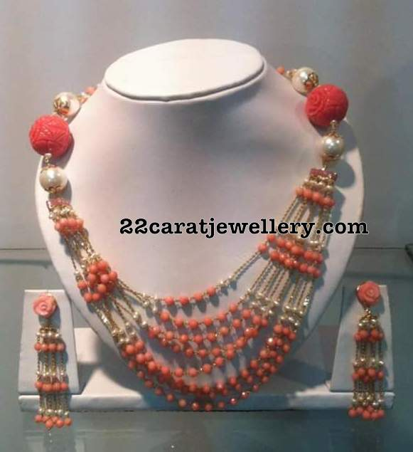 Light Weight Coral Beads Necklace