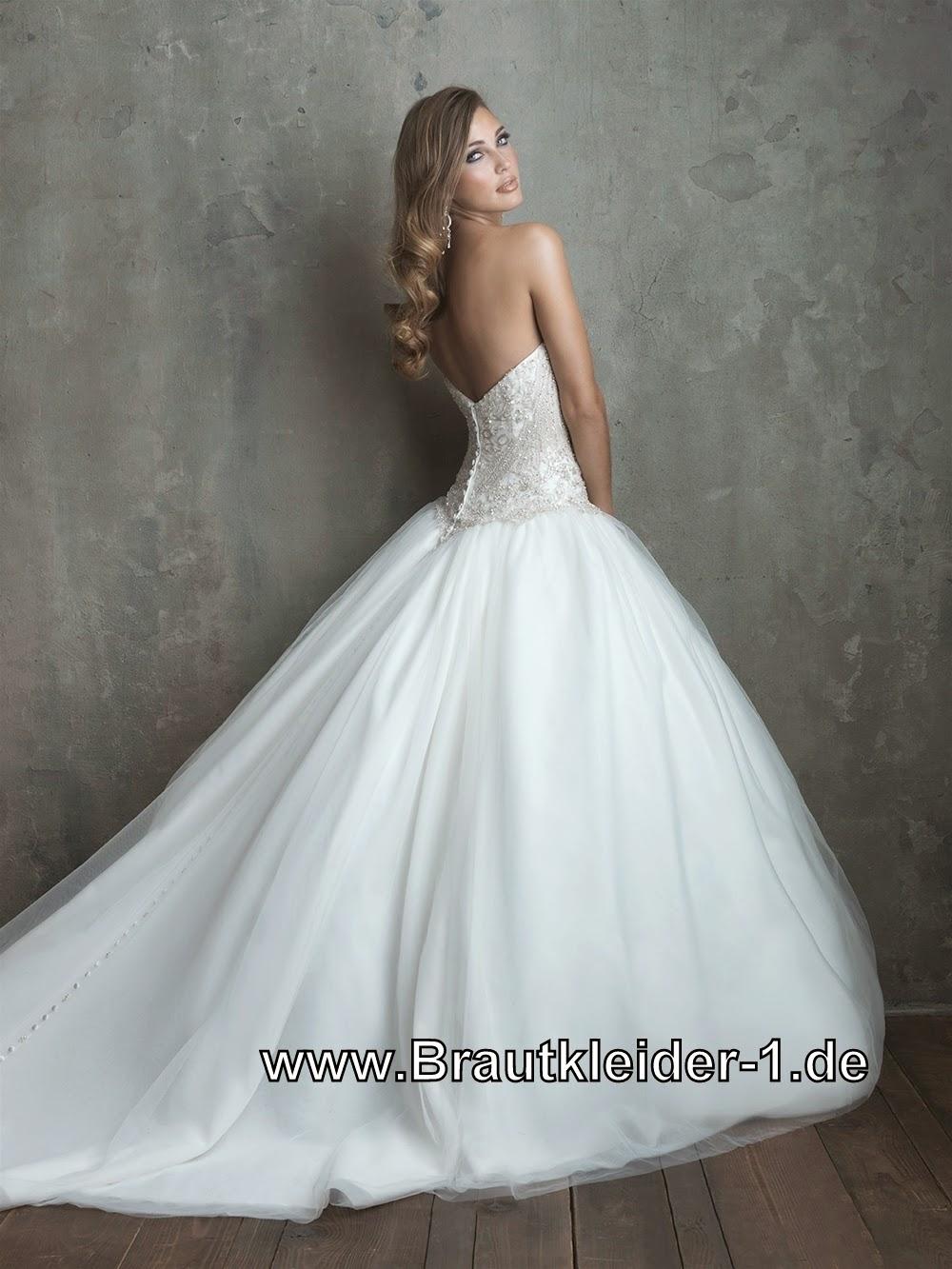 Brautkleider mit Schleppe: Luxus Brautkleid Hochzeitskleid Sofia