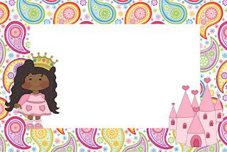 Princesa Afro: Invitaciones para Imprimir Gratis.