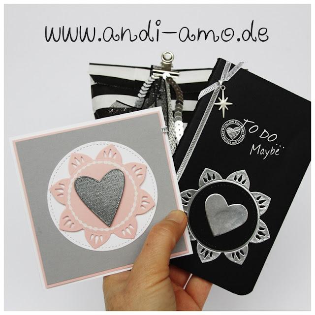 Geschenke dekoriert mit Stanze und Stempel andi-amo
