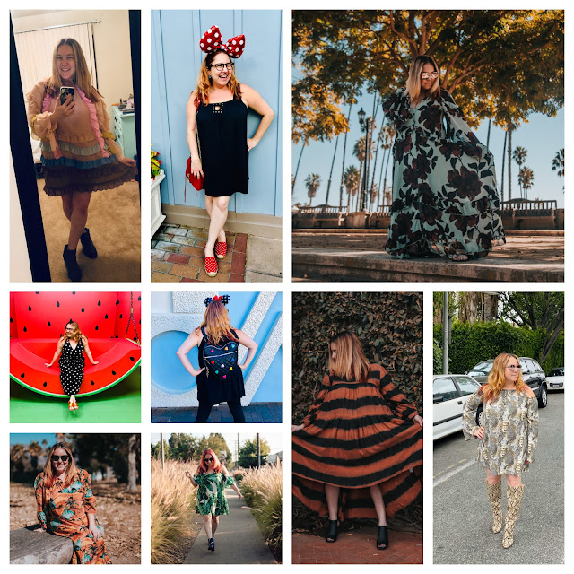 2019, New Year's Eve, New Year's wrapup post, 2019 wrapup, Jamie Allison Sanders, looking back on 2019, fashion choices, clothing, Nuuly, Free People, Cynthia Rowley, JustFab, Anthropologie, Minnie Mouse, Monki, Asos, Chufy, Shein, Betty and Veronica, Laser Kitten