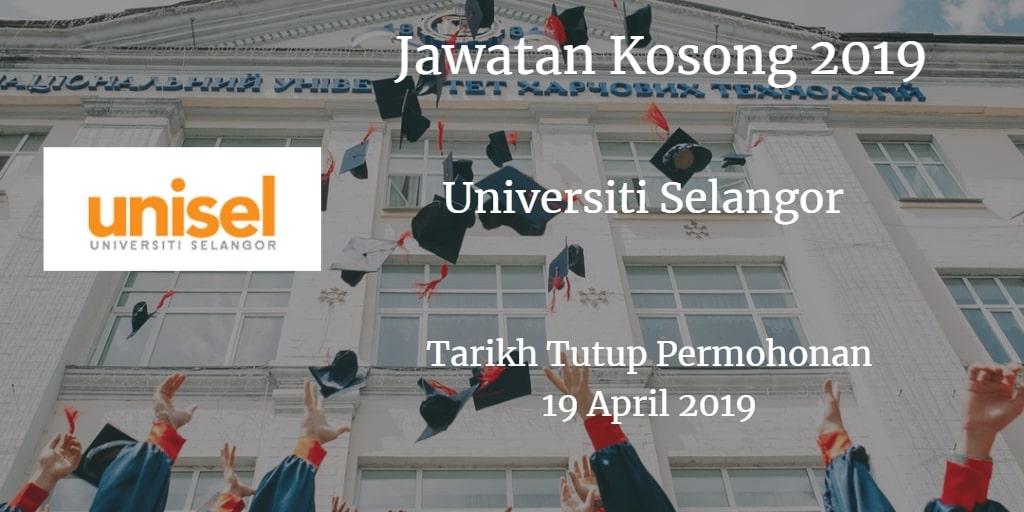 Jawatan Kosong UNISEL 19 April 2019