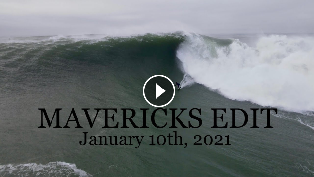HUGE Mavericks surfing - January 10th 2021 - Kai Lenny Ian Walsh Nathan Florence and more