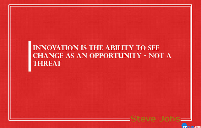 Innovations is the ability to see change as an opportunity Steve Jobs Quotes