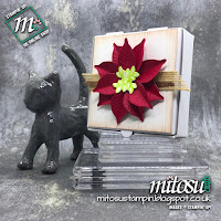 Stampin' Up! Nature's Root Poinsettia Decorated Cookie Box Idea. Order Papercraft Products from Mitosu Crafts UK Online Shop