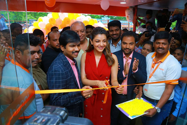 Kajal Aggarwal In Red Dress At Happi Mobiles Launch Actress Trend