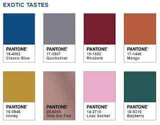 A palette that compliments Classic Blue