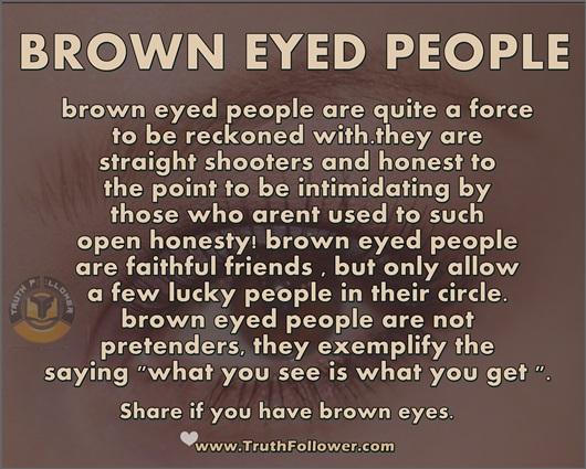 Brown eyed people