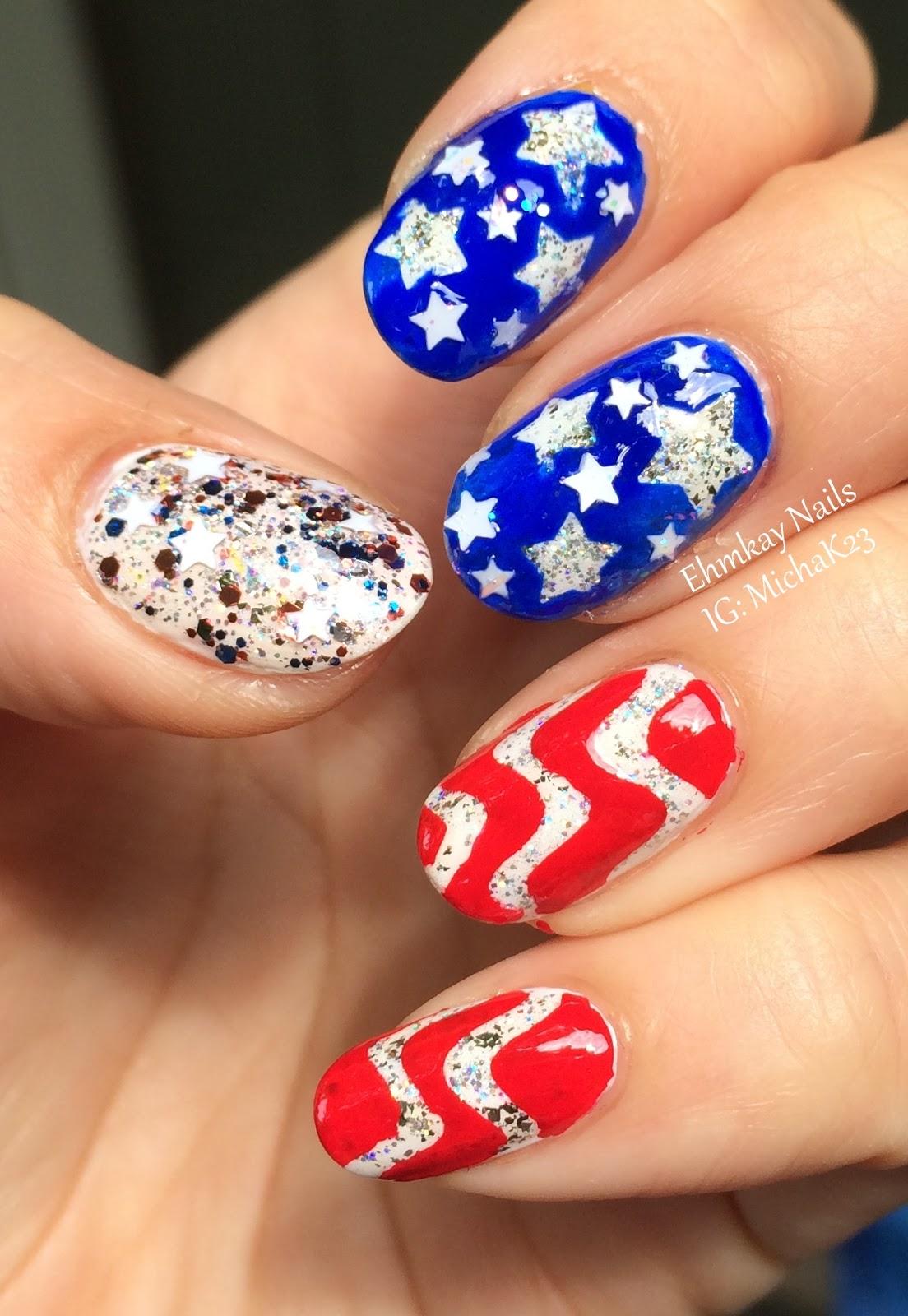 Ehmkay Nails: American Flag Nail Art