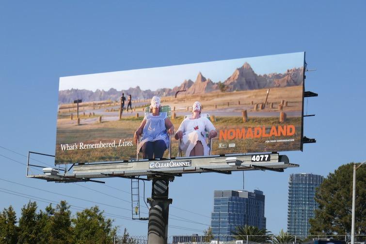Nomadland Oscar Whats Remembered Lives billboard