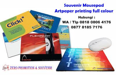 Jual Souvenir Mousepad Artpaper printing full colour
