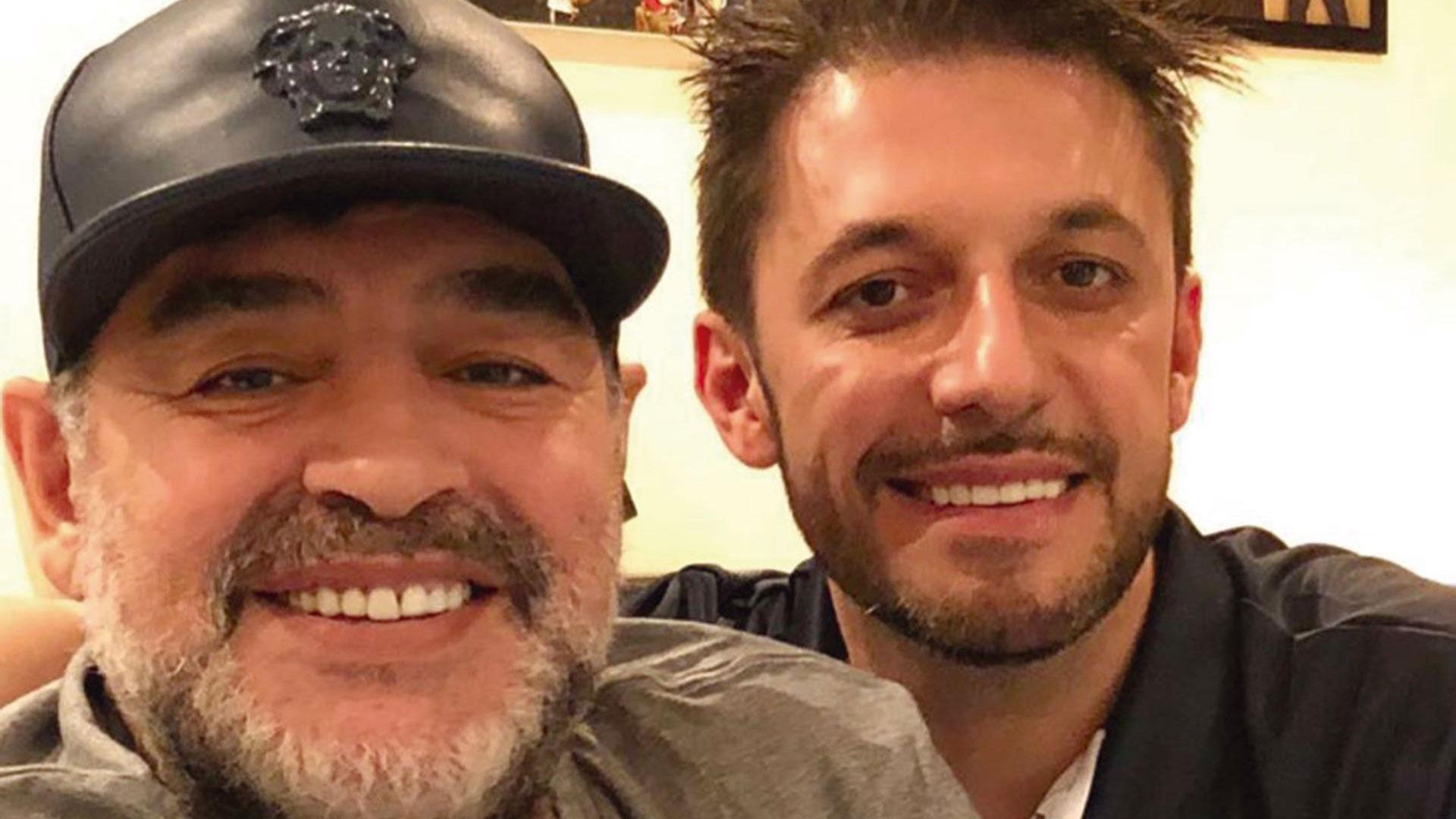 Diego Maradona y Matias Morla
