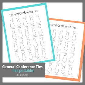 General Conference Ties printables - Latterday Lane