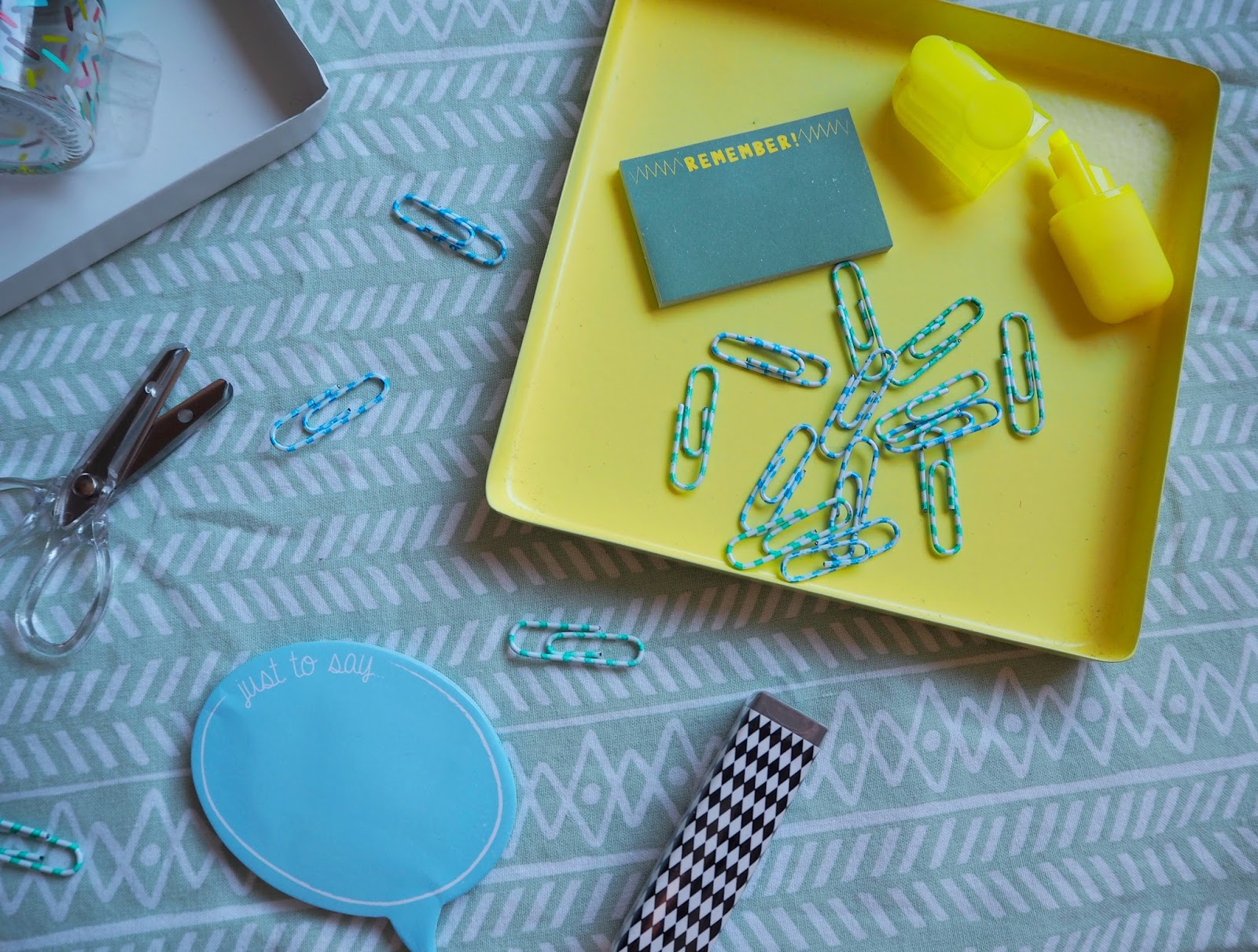 Mini Stationery Set & Stipey Paper Clips