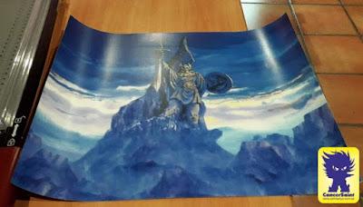 Fondo impreso de la estatua de Odín para mi escenario de Asgard