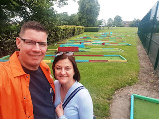 At the Eureka Park Crazy Golf course in Swadlincote