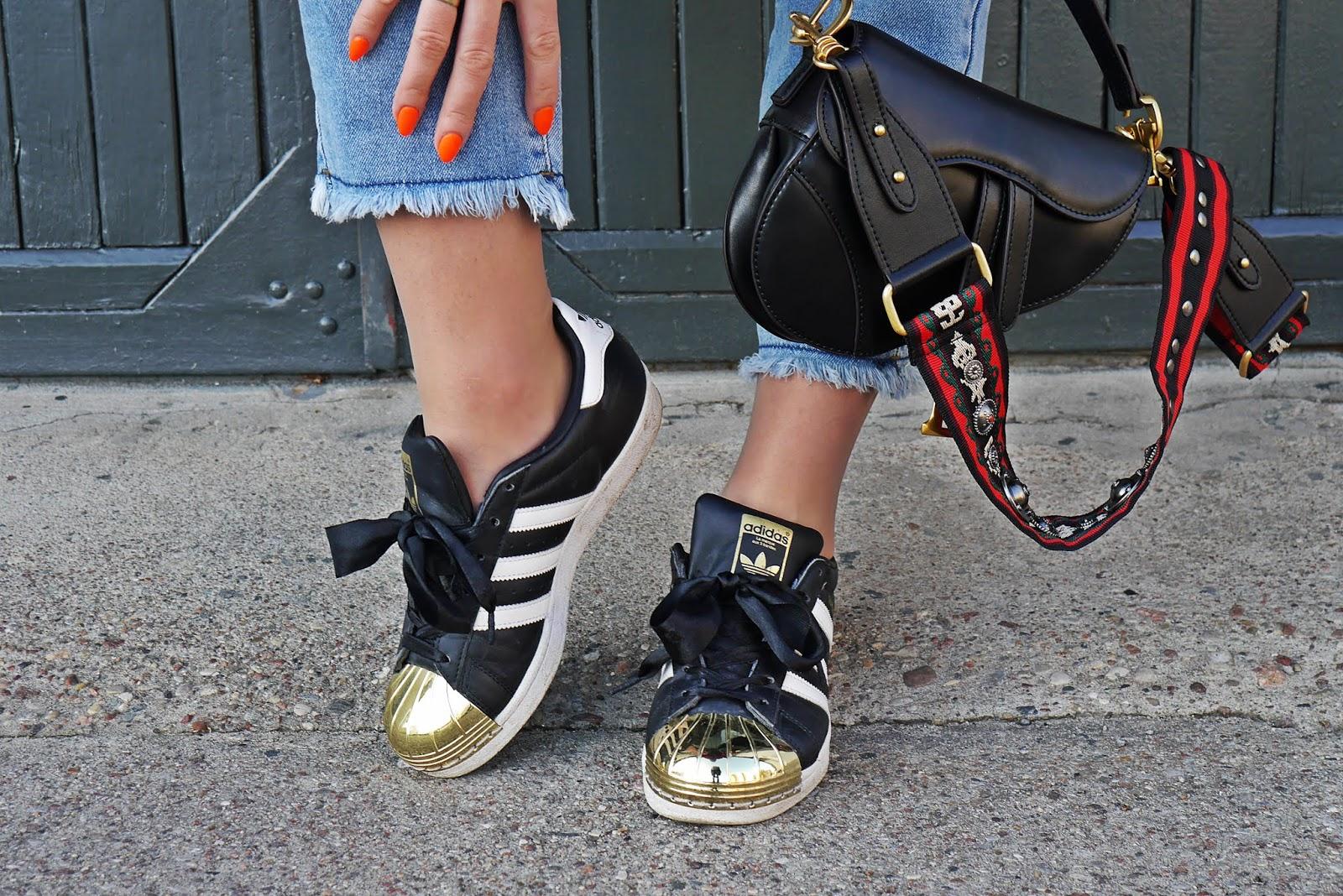 blogerka modowa blog modowy karyn adidas superstar torebka dior siodło puławy stylizacja