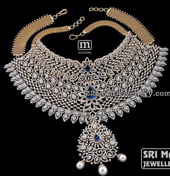 Diamond Necklace from Mahalaxmi jewellery