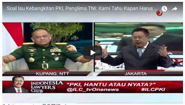 Soal PKI, Tegas Panglima TNI: Kamilah Musuhnya, Kami Tahu Kapan Kami Bergerak