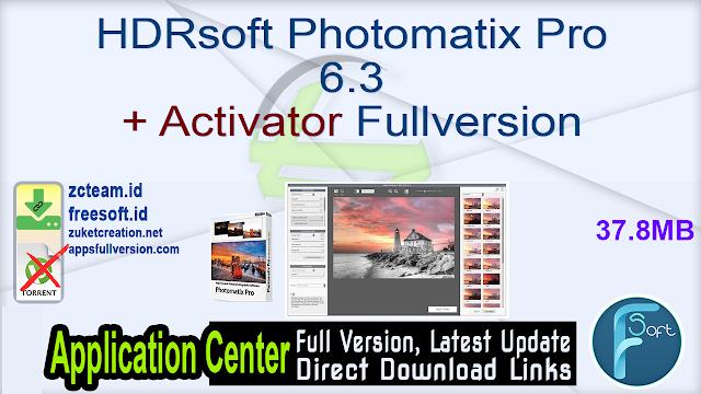 HDRsoft Photomatix Pro 6.3 + Activator Fullversion