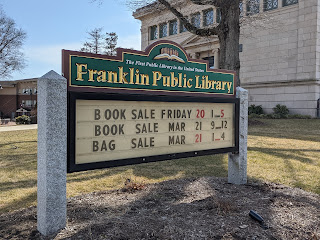 No book or bag sale this weekend due to the pandemic closure