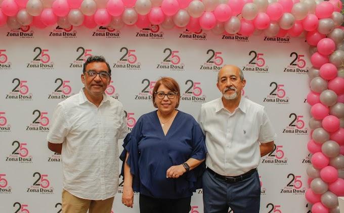 Plaza Zona Rosa celebra 25 años de fundación