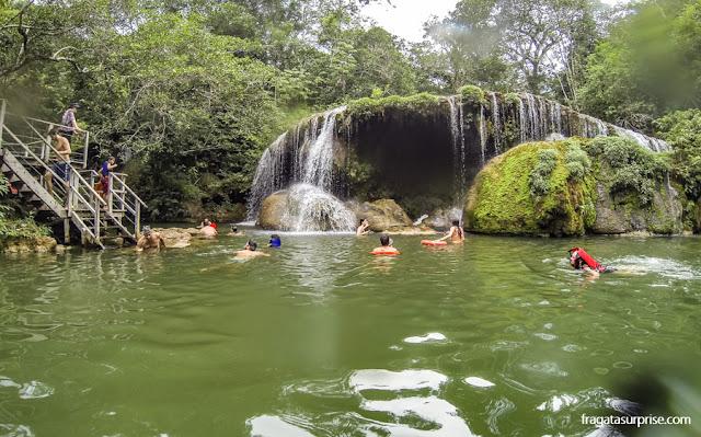 Cachoeiras na Estância Mimosa - Bonito - MS