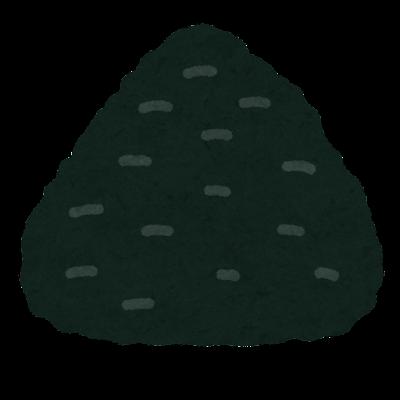 海苔おにぎりのイラスト