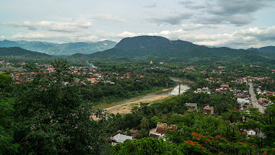 Views of Luang Prabang from the top of Mount Phousi
