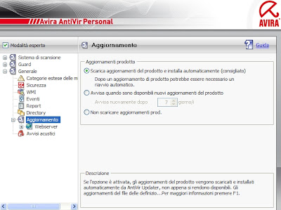 AVIRA UPDATE ITALIANO