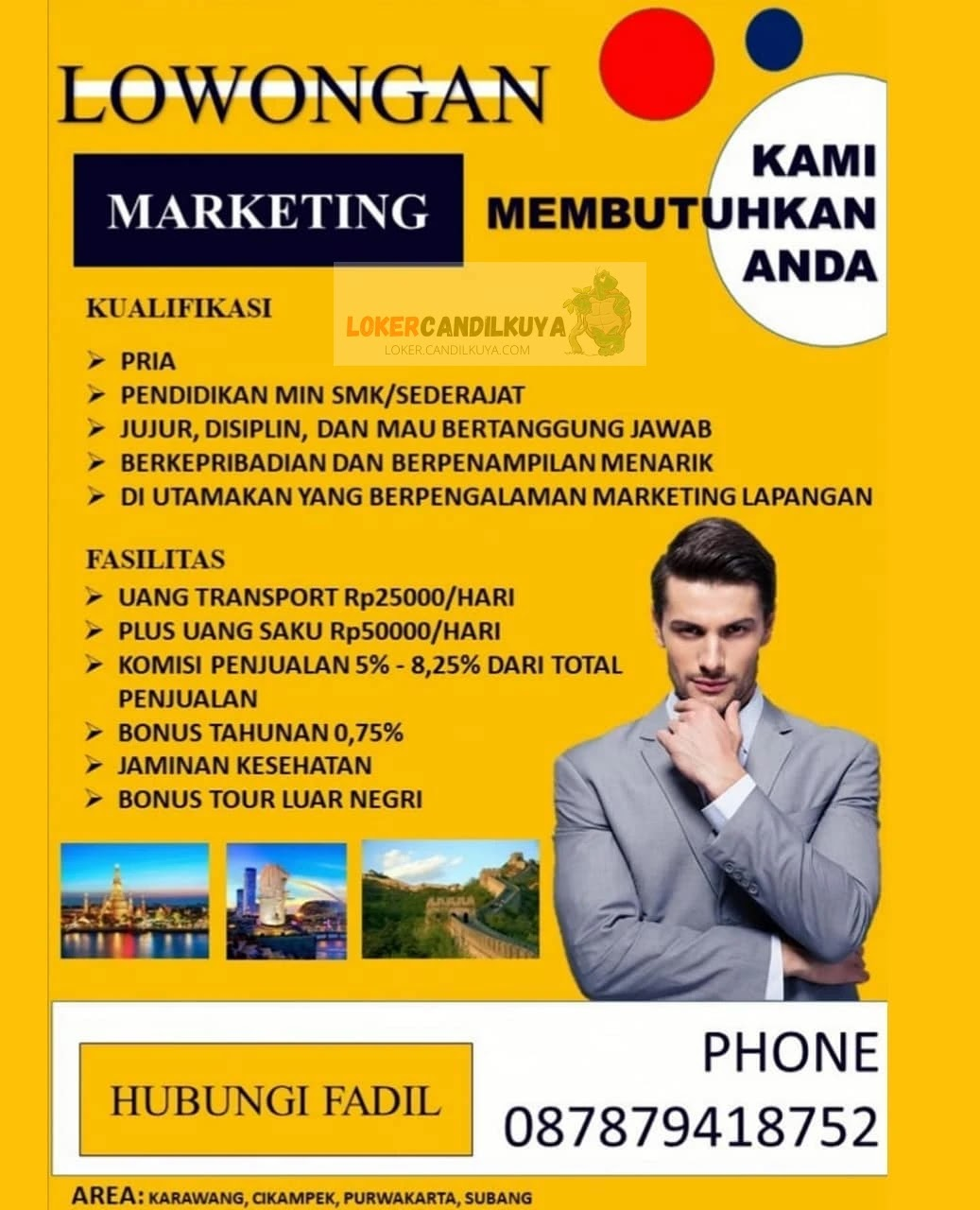 Lowongan Kerja Marketing Subang