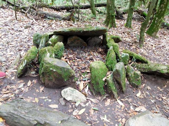 Funerary circular dolmen inside the Mawphlang Sacred Forest, Meghalaya