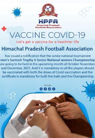 सभी फुटबॉल खिलाडिय़ों के लिए कोविड़ वैक्सीन अनिवार्य, खिलाडिय़ों को दिखाना हो वैक्सीनेशन सर्टिफिकेट