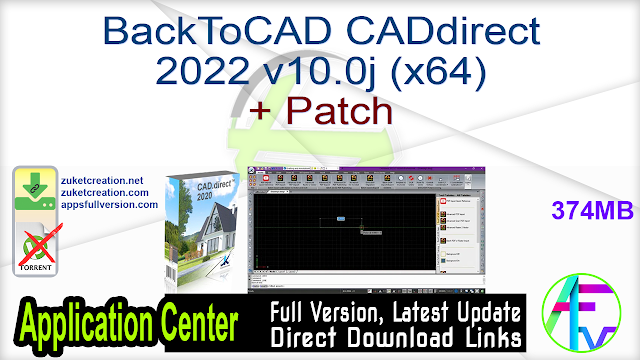 BackToCAD CADdirect 2022 v10.0j (x64) + Patch