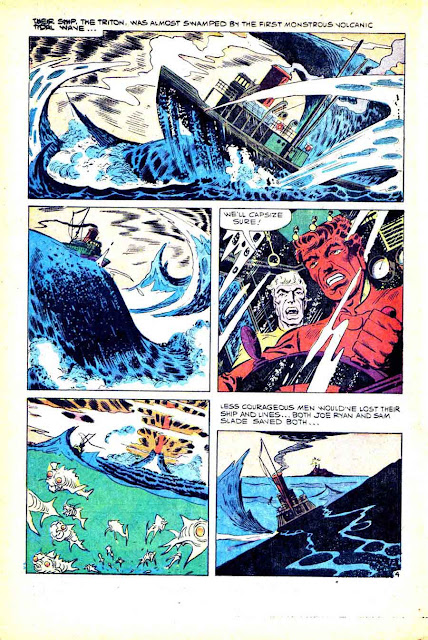 Gorgo v1 #1 charlton monster comic book page art by Steve Ditko
