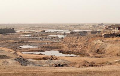 subhanallah, benar sabda rasulullah, sungai eufrat mulai mengering