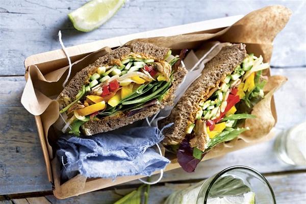 Receta de sandwich de Vegetales