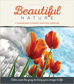 Beautiful Nature Grayscale Coloring Book