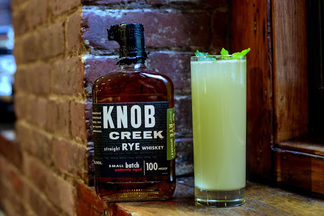 A Knob Creek Bourbon cocktail for St. Patrick's Day