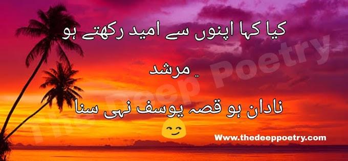Kya Kaha Apno Se Umeed Rakhty Ho  Murshad  Nadaan Ho Qissa-E-Yousuf Nahi Suna