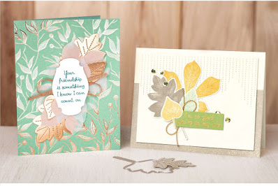 Stampin' Up! Love of Leaves Friendship Card ~ August-December 2020 MIni Catalog ~ #stampinup #autumn