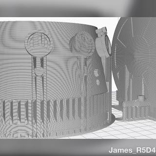 R5-D4, R5-D4 3D print, 3D printing