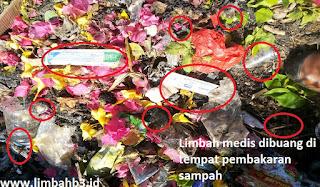 Contoh limbah B3 infeksius yang berasal dari klinik sebuah perusahaan
