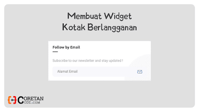 Cara Membuat Widget Berlangganan di Sidebar Blogger Ala Fletro Pro