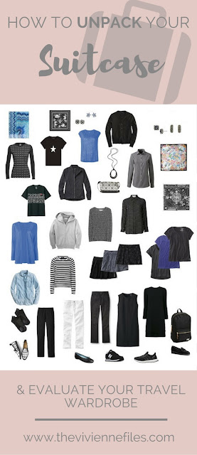 How to Un-pack your suitcase - How to evaluate your travel capsule wardrobe
