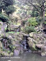 Waterfall in the Sengan-en Garden - Kagoshima, Japan