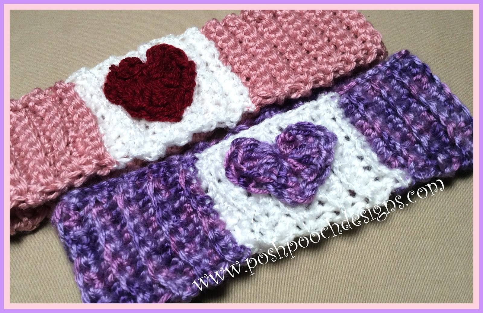 Posh Pooch Designs Dog Clothes: My Funny Valentine Headband Crochet ...