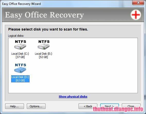 Phần mềm lấy lại file Office đã xóa