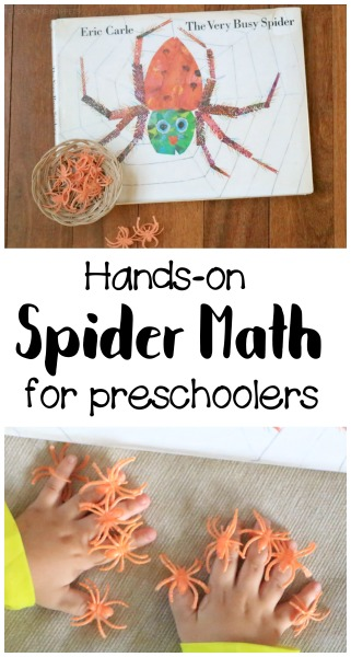the very busy spider activity math tray