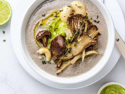 Mushroom flavored soups